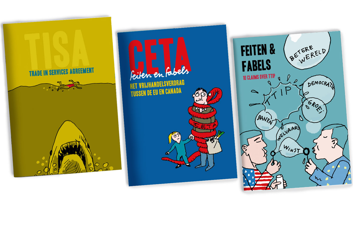 3 Booklets  Critical review on TISA, TTIP and CETA