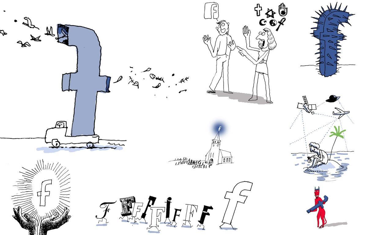 sketch article/ cover de Groene Amsterdammer Facebook