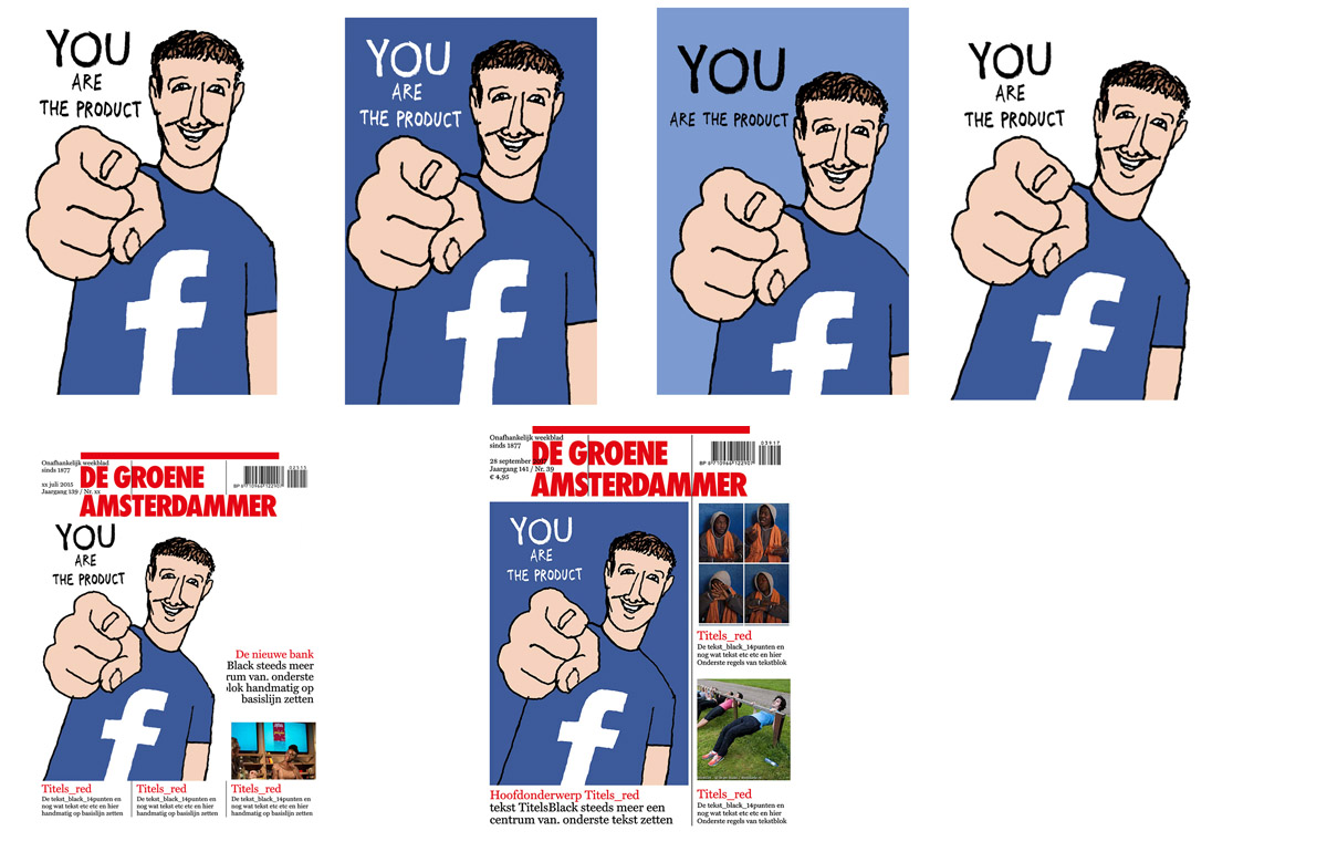 sketch article/ cover de Groene Amsterdammer Facebook