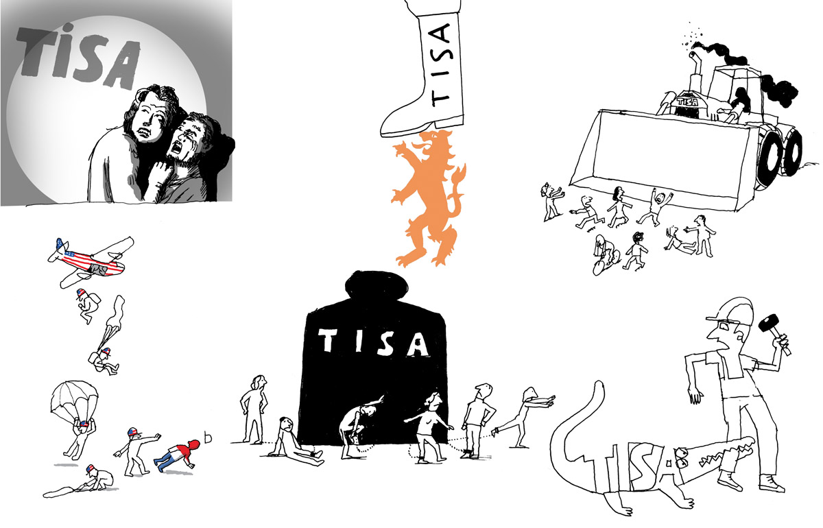 sketch for 'TISA' booklet